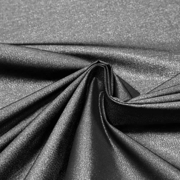 Lurex Kleider- & Jackenstoff Melange - schwarz/silber