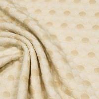 Baumwoll- Jacquard Dekostoff Kreise - creme/nude