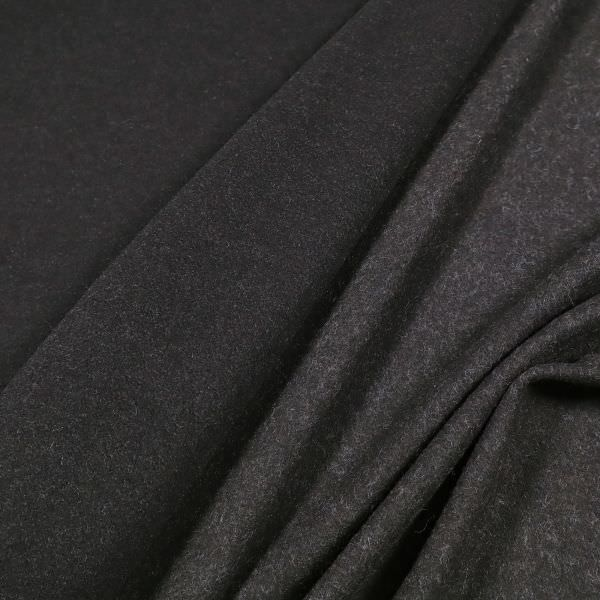 Mantelvelour Melange - schwarz/braun