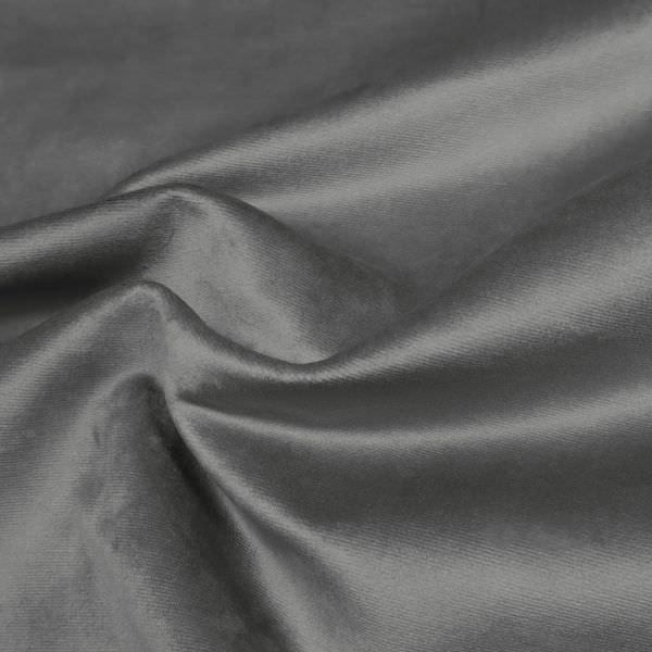 Polsterstoff / Möbelstoff Samt uni - grau