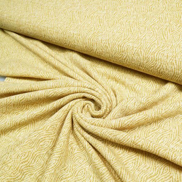 Woll- Feinstrick mit Lurex&gemustert - creme/gelb/gold