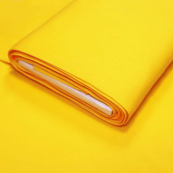 Rippen- Bündchenstoff Schlauchware uni - sonnengelb