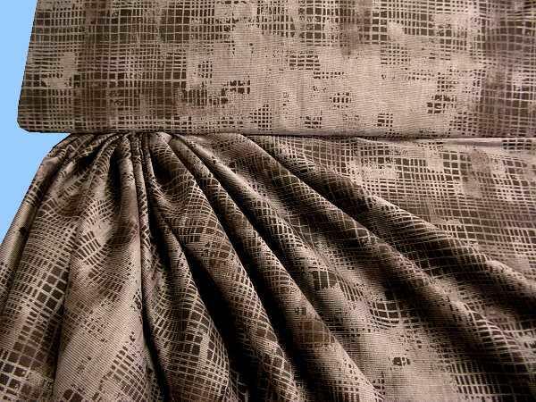 Blusen- und Kleiderstoff - braun/khaki