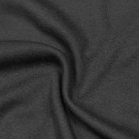 Baumwoll- Feinstrick-Jersey uni - schwarz