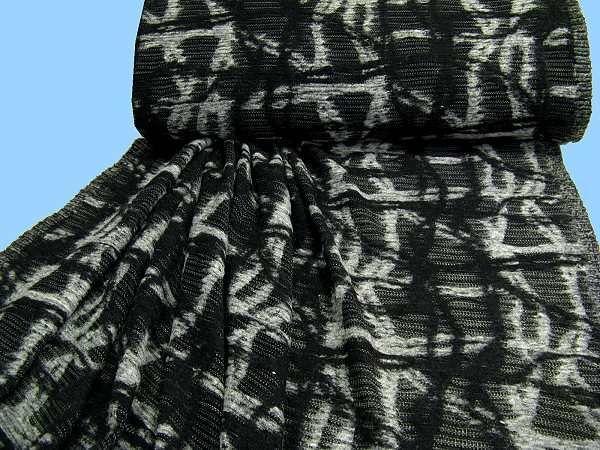 Strick - schwarz/grau