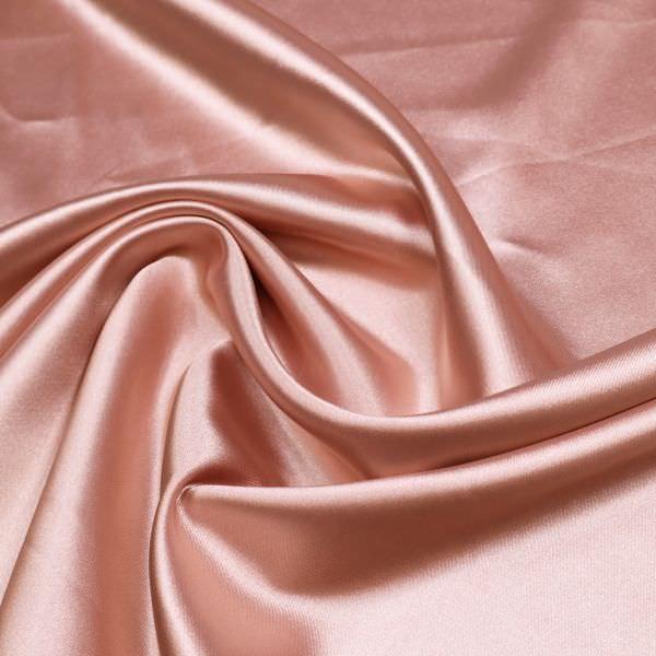 Polyester- Stretch Satin uni - altrosa