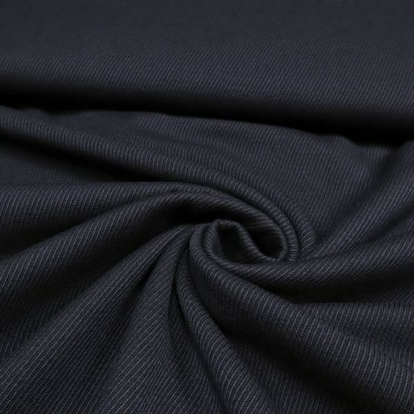 Jackenstoff mit Köperbindung uni - nachtblau
