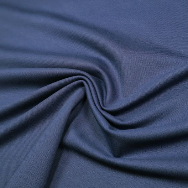 Punto Milano Power-Stretch Jersey uni - dunkelblau