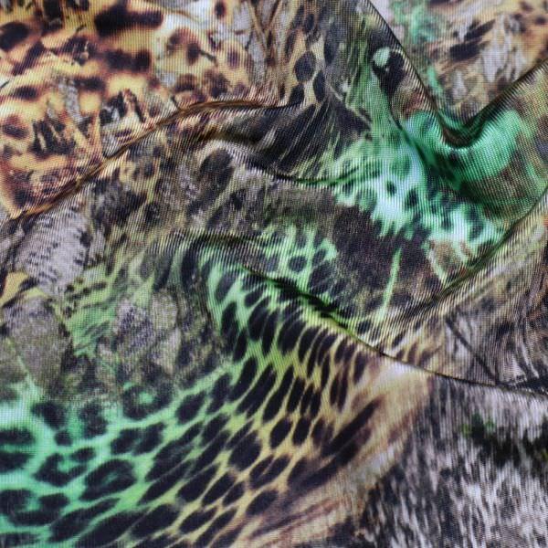 Slinky-Jersey mit Leoparden-Dschungel-Print - beige/braun/grün/schwarz