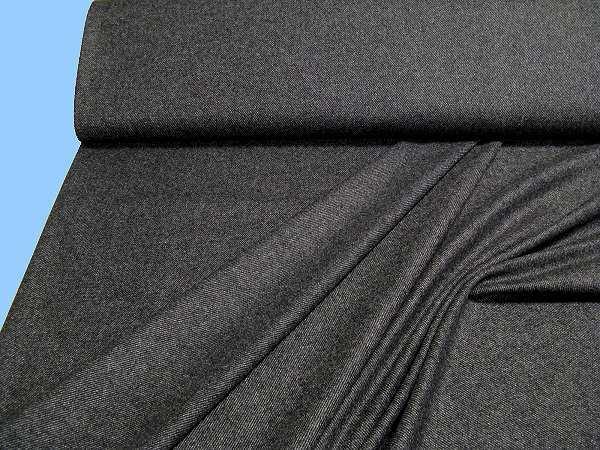 Wollstoff (Mischung) - schwarz/grau/wollweiss/dunkelbraun (Reststück)