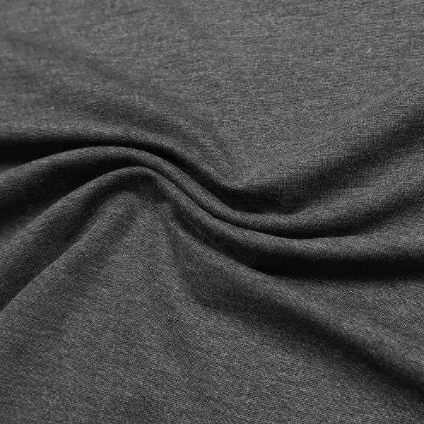 Punto Milano Power-Stretch Jersey Melange - schwarz/grau
