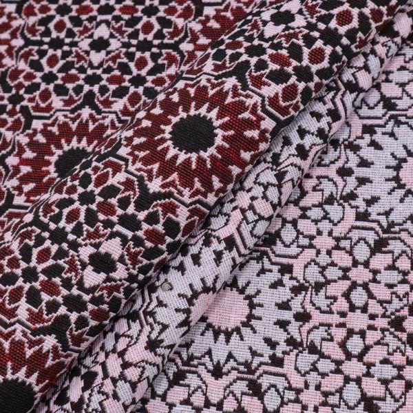 Jacquard Ornamente - rot/schwarz/weiss