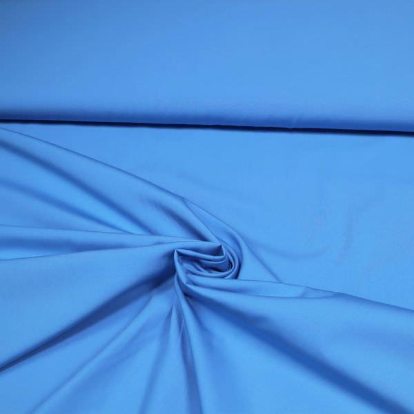 Baumwoll- Popeline uni - blau