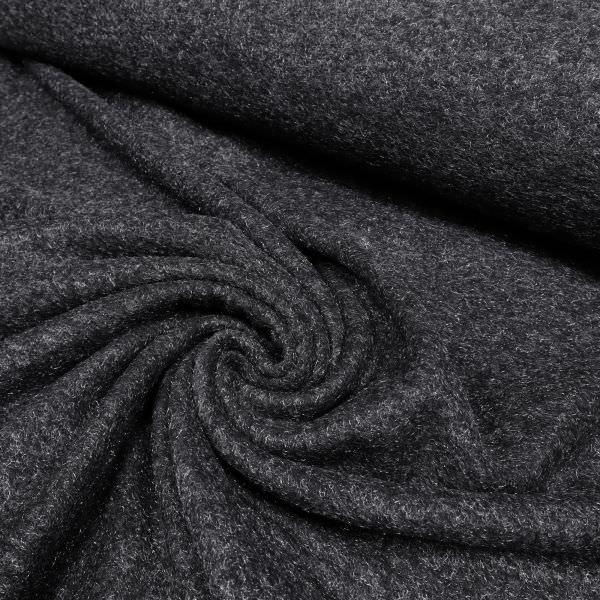 Strick mit glänzendem Stichelhaar - schwarz