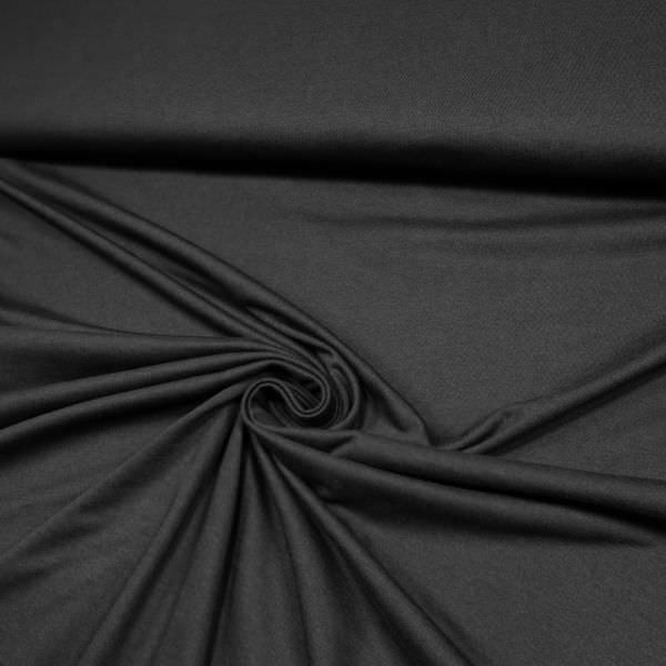 Baumwolle-Polyester-Mix Jersey uni - schwarz