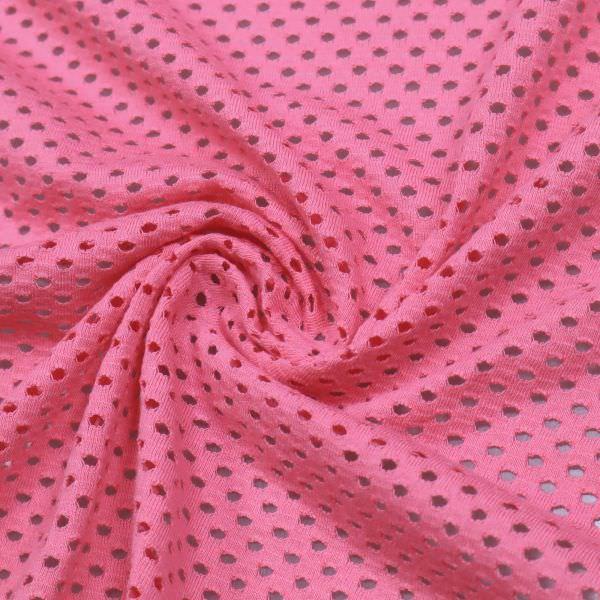 Baumwolljersey Lochmuster uni - pink