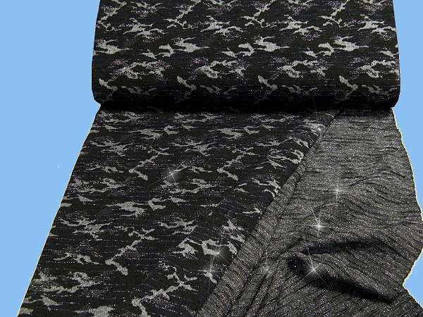 Strick mit Lurex - schwarz/khaki/grau/silber