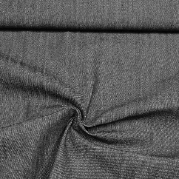 Jeansstoff Denim Meliert - schwarz/wollweiss