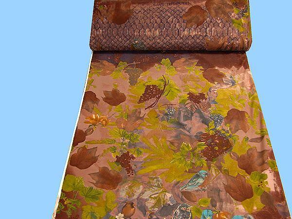 Lycra-Jersey Blätter & Trauben - braun/ocker/kiwi/brombeere