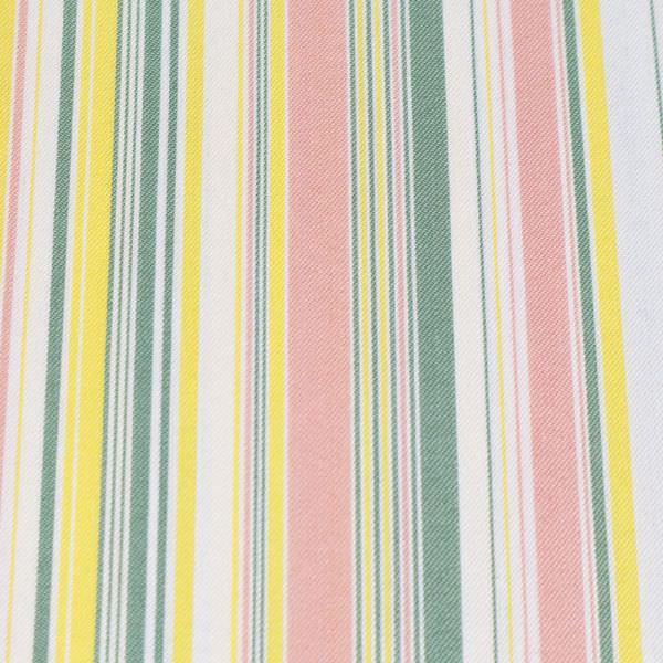 Baumwolle-Polyester-Mix Streifen - wollweiss/gelb/rosé/schilfgrün (n