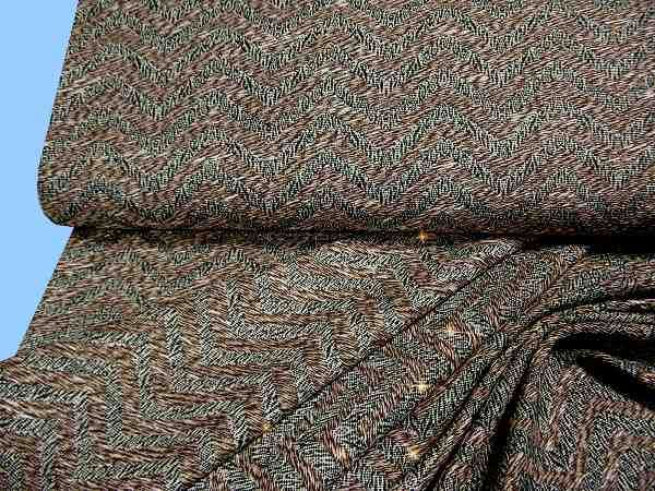 Viskosestoff mit feinen Lurexfäden - braun/schwarz/beige/weiss/gold