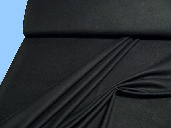 Wollstoff (Mischung) uni - schwarz
