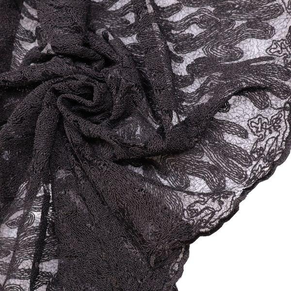 Bogen Spitze mit Reliefmuster - schwarz
