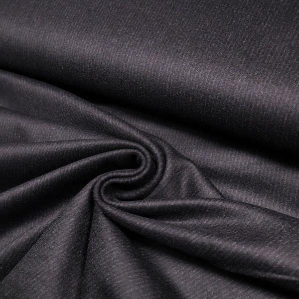 Kaschmir- Mantelvelour mir Streifen - schwarz/nachtblau/grau