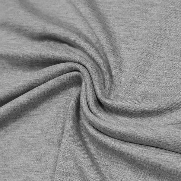 Power-Stretch Jersey Melange - grau