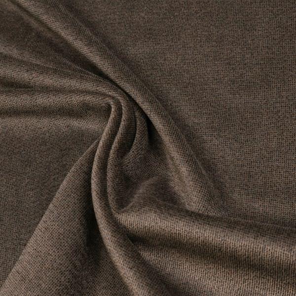 Baumwoll- Feincord Melange - braun/schwarz
