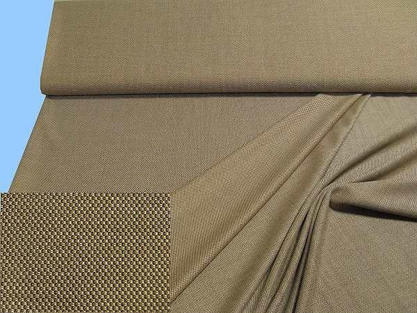 Kleider- und Kostümstoff - braun/wollweiss/schwarz.