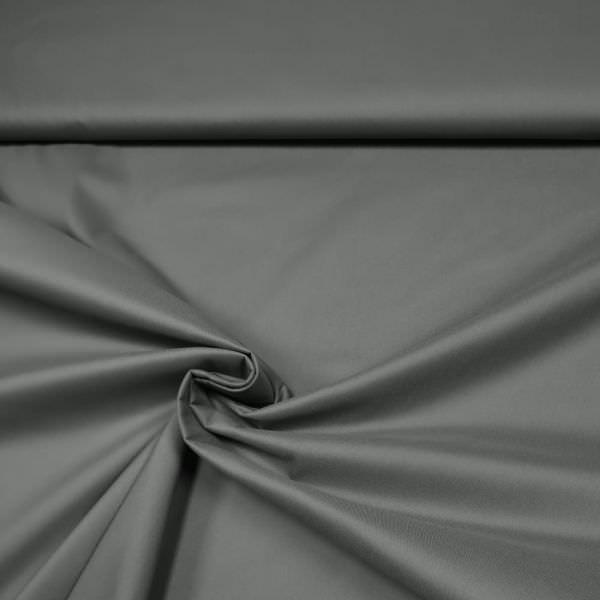 Stretch Baumwoll- Popeline uni - grau