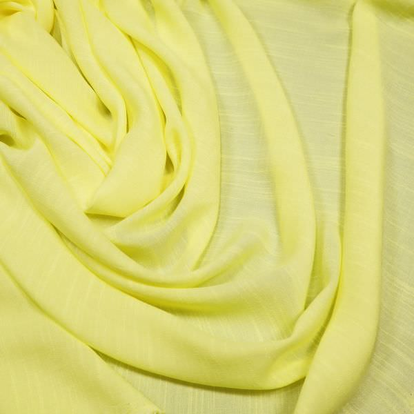 Viskose-Polyester Mix uni - hellgelb