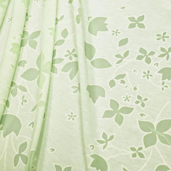 Ausbrenner Jersey zarte Blumen - mintgrün/wollweiss