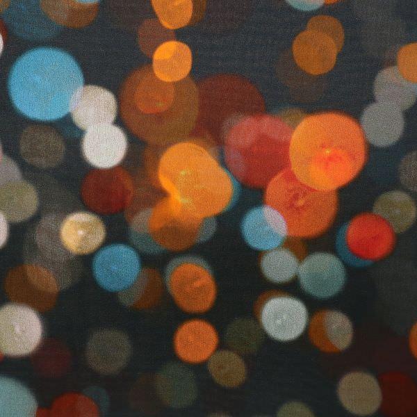 Seiden- Chiffon Night light - anthrazit/weinrot/orange/türkis (Reststück 3,4m) (2.Wahl)