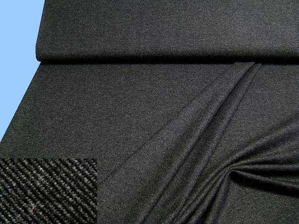 Wollstoff (Mischung) - schwarz/dunkelgrau