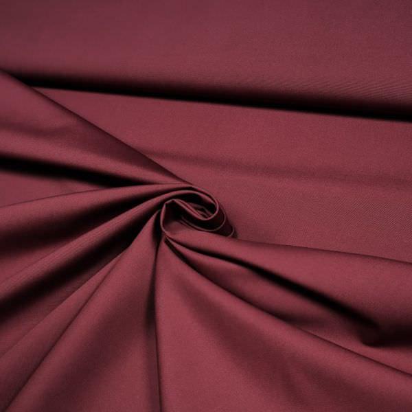Baumwolle-Polyester-Mix uni - weinrot