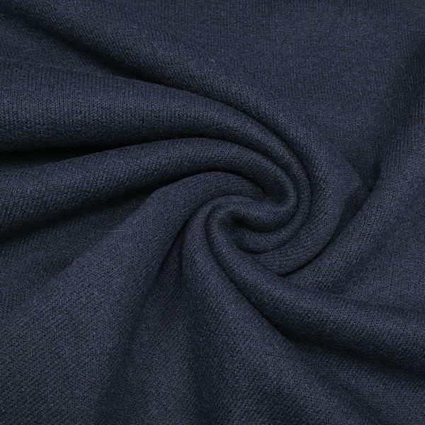 Woll- Strick uni - nachtblau