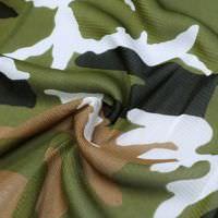 Weichtüll (Mesh) Camouflage-Style - wollweiss/braun/olivgrün/schwarz