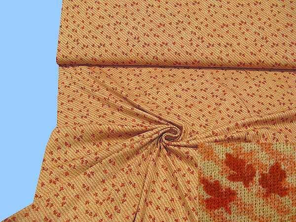 Viskosejersey mit Blättermotiv - beige/lachs/terrakotta