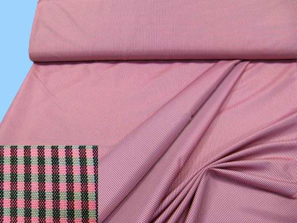Jackenstoff - pink/hellgrau/weiss/schwarz