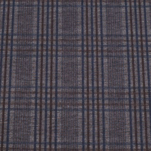 Punto Milano Power-Stretch Jersey Glencheck - schwarz/grau/braun/dunkelblau