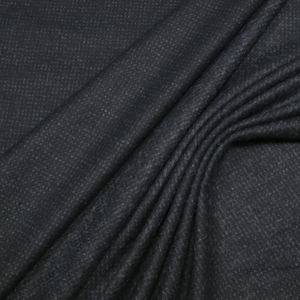 Wollstoff-Mix meliert&gemustert - schwarz/anthrazit