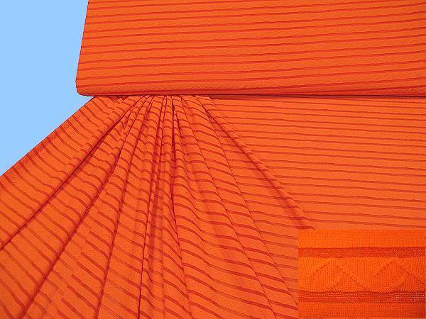 Feinjersey gemustert - orange
