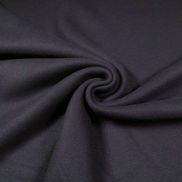 Mantelvelour uni - nachtblau (2.Wahl)