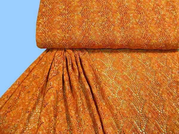 Strick - orange/gelb/weiss