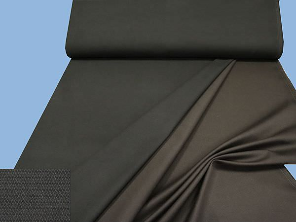 Baumwollstoff uni - dunkelbraun
