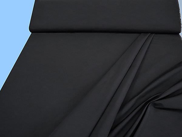 Hosen- und Kostümstoff uni - schwarz