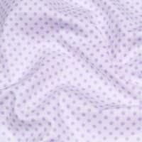 Baumwollstoff mit Punkten - weiss/flieder Öko-Tex Standard 100