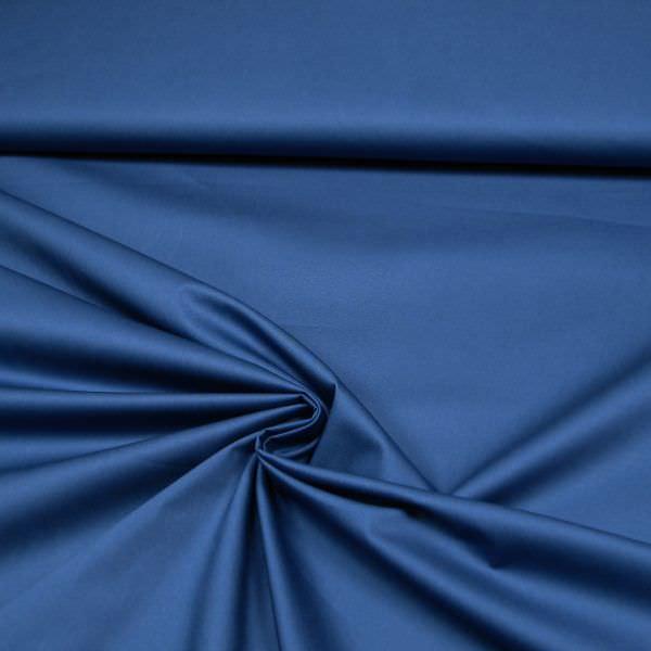 Stretch Baumwollstoff uni - blau